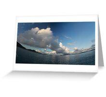 Morning clouds (smiling horizon version) Greeting Card