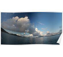 Morning clouds (smiling horizon version) Poster