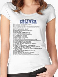 30 reasons to ship Coliver Women's Fitted Scoop T-Shirt