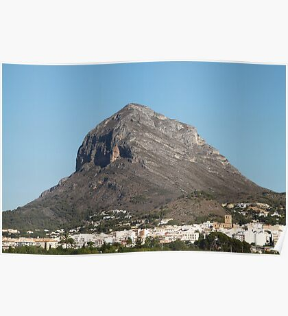 Montgo the Elephant Mountain, Javea Spain Poster