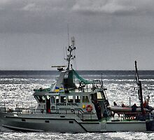 "Fishing Patrol Boat ~ ""Drumbeat of Devon"" by Clive"