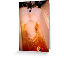amusing bubble bath Greeting Card