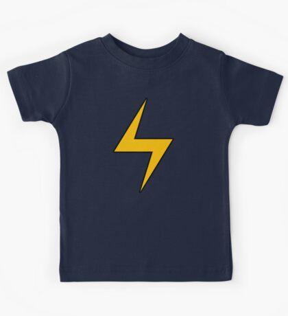 Lightning Bolt Logo Emblem Kids Tee