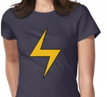 Lightning Bolt Logo Emblem Womens Fitted T-Shirt