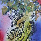 Bonsai with rock by ddonovan