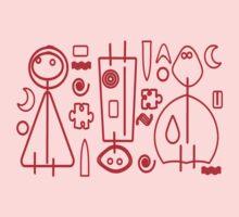 Children Graphics - red design One Piece - Short Sleeve