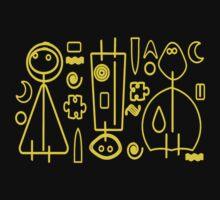 Children yellow graphic design One Piece - Short Sleeve