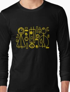 Children yellow graphic design Long Sleeve T-Shirt