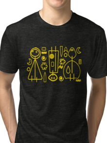 Children yellow graphic design Tri-blend T-Shirt