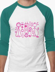 Children Pink Graphic Design Men's Baseball ¾ T-Shirt