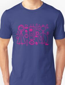 Children Pink Graphic Design Unisex T-Shirt