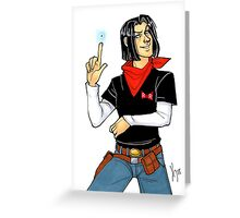 Android 17 Card Greeting Card