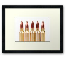 several ammo for the automatic weapons Framed Print