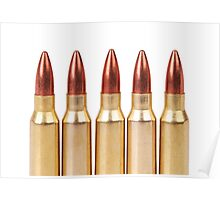 several ammo for the automatic weapons Poster