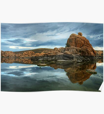 Storm Clouds Over Watson Lake Poster