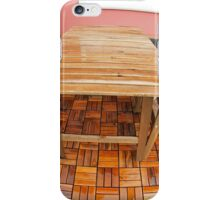 Wet wooden table and chairs after the rain iPhone Case/Skin