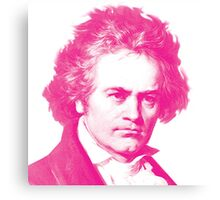 Magenta Beethoven! Canvas Print
