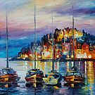 EVENING HARBOR - LEONID AFREMOV by Leonid  Afremov