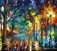 THE RETURN OF THE NIGHT - LEONID AFREMOV by Leonid  Afremov