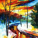WINTER STREAM - LEONID AFREMOV by Leonid  Afremov