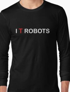 The IT Crowd – I T Robots (White) Long Sleeve T-Shirt
