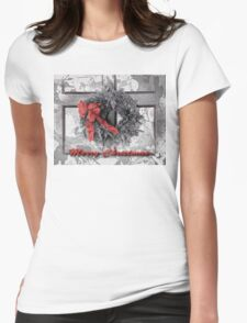 Christmas Wreath Womens Fitted T-Shirt