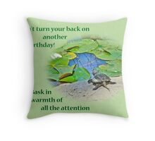 Birthday Card - Baby Snapping Turtle Throw Pillow