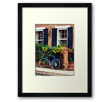 Parked Bicycle Framed Print