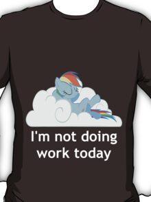 Rainbow Dash does no work T-Shirt