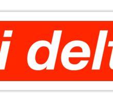 Delta Delta Delta Supreme Sticker