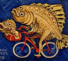 Flounder on a Bicycle by Ellen Marcus
