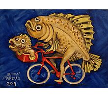 Flounder on a Bicycle Photographic Print