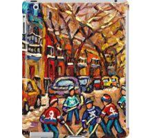 MONTREAL HOCKEY ART PAINTINGS ORIGINAL HOCKEY PAINTING FOR SALE CAROLE SPANDAU iPad Case/Skin