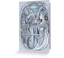White elven lady Greeting Card