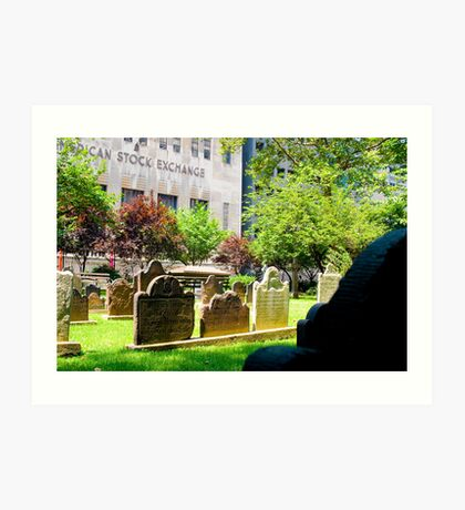 NYC Cemetery Art Print