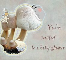 Baby Shower Invitation - Mushroom Playground by MotherNature