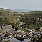 Hill walkers @ Mahon Falls, Waterford, Ireland by John  Carey