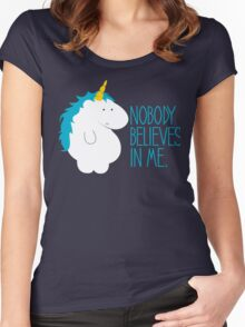 Nobody Believes In Me Women's Fitted Scoop T-Shirt