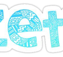 Zeta Tribal Sticker (Blue) Sticker