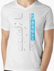 Scandinavian Flick Mens V-Neck T-Shirt