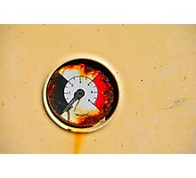 Rusty Dial Photographic Print