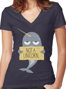 Not A Unicorn Women's Fitted V-Neck T-Shirt
