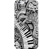 Classical music doodle with piano keyboard iPhone Case/Skin
