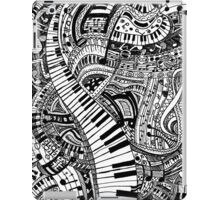 Classical music doodle with piano keyboard iPad Case/Skin