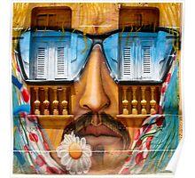 Sunglasses Graffiti Wall Poster