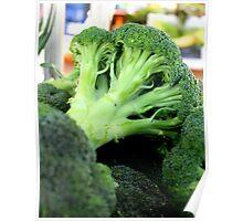 Organic Broccoli Poster