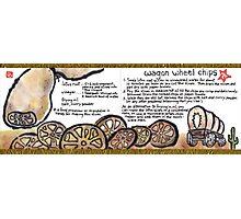 Illustrated Recipe: Wagon Wheel Chips Photographic Print