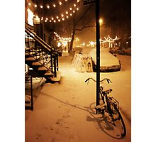 Winter Blizzard - New York City Photographic Print