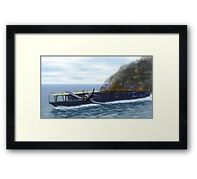 Fighting at the Battle of Midway Framed Print