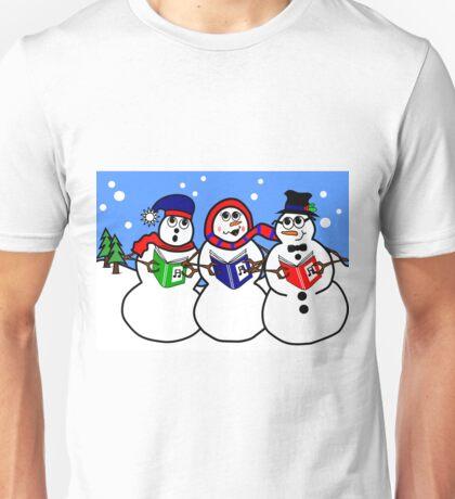 Cartoon Snowman Singing Group Unisex T-Shirt